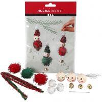 Creative mini kit, Decoración de Navidad para colgar, 1 set