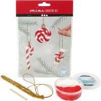 Creative mini kit, Decoración colgante de bastón de caramelo de Navidad, 1 set