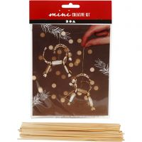 Mini kit creativo, Cabra yule de paja tradicional, A: 7 cm, 1 set