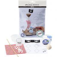 Minikit creativo, Buque pirata de huevera, 1 set