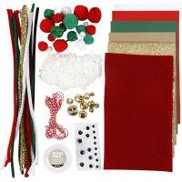 Surtido de manualidades, Navidad, 1 paquete