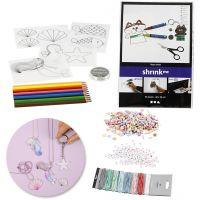 Kits - Fabricación de joyas con cuentas y láminas de plástico mágico, 1 set
