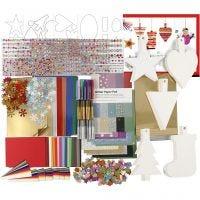 Kit de decoraciones navideñas, surtido de colores, 1 set
