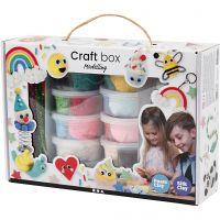 Set de llaveros con Silk y Foam Clay, surtido de colores, 1 set