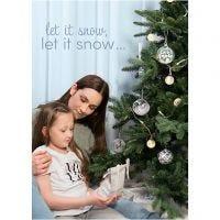 Póster, Navidad de invierno, medidas 21x30+29,7x42+50x70 cm, 4 ud/ 1 paquete