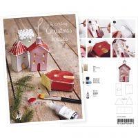 Postal, Casas decoradas con purpurina, A5, 14,8x21 cm, 1 ud