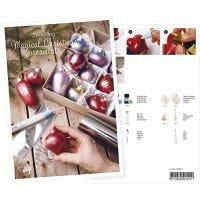 Postal, Bolas de Navidad con pintara de Art Metal y Deco Foil, A5, 14,8x21 cm, 1 ud