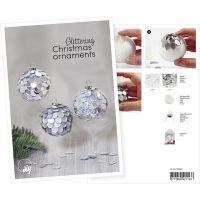 Postal, Bola de Navidad con lentejuelas, A5, 14,8x21 cm, 1 ud