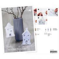 Postal, Casa cubierta de nieve, A5, 14,8x21 cm, 1 ud