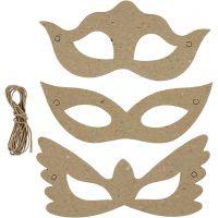 Máscaras, A: 5+8 cm, A: 18 cm, 3x10 ud/ 1 paquete