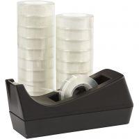 Dispensador de cinta adhesiva, A: 15 mm, 1 set