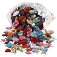 Joyas - Cueva de aladín, medidas 15-17 mm, surtido de colores, 210 gr/ 1 paquete