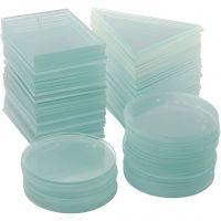 Plato de cristal, grosor 3 mm, 3x30 ud/ 1 caja