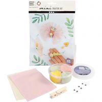 Mini kit creativo, ciclo de vida de la mariposa, 1 set