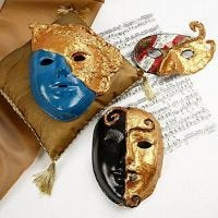 Máscara rococó con Art Metal oro