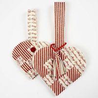 A woven heart basket in felt with a tassel