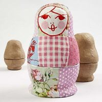 A Russian Babushka Doll with Napkins