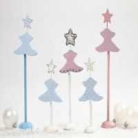 Pastel Coloured Christmas Trees