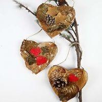 Natural Christmas Hearts