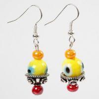 Earrings with Glass Eye Beads