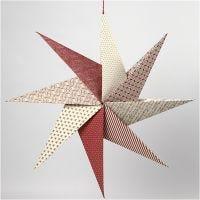 Estrella de Origami con papel hecho a mano