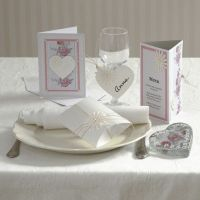 A Party Invitation, Card and Table Decoration with Daisies