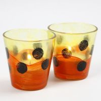 Candle Holders with Glass Paint
