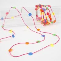 Neon-coloured Macramé Cords with melted Nabbi Beads