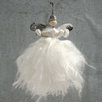 An Angel made from Stub Wires and Silk Yarn