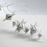 A Garland from pyramid-shaped woven Stars