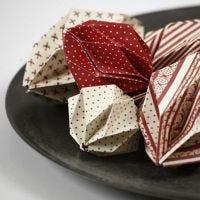 Bolas de origami con papel de diseño Copenhagen