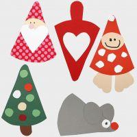 Decoraciones navideñas -figuras hechas con plantillas flexibles