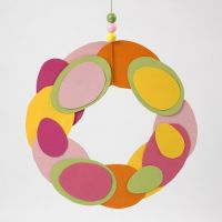 A Wreath made from Eggs cut out from Card