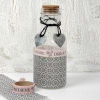 A Glass Bottle with Vivi Gade (Paris) Decoupage & Decorations