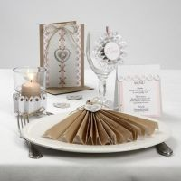 A Card Series with Paper for a Rosette and Natural Hemp