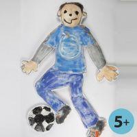 Una muñeca XL hecha con imitación a tela