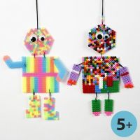 Bead Figures made on a Peg Board