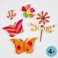Card Shapes decorated with Markers and Rhinestones