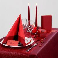 Inspiraciones para fiestas con decoraciones para mesa en color rojo, etc
