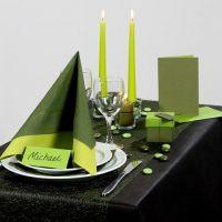 Inspiración para fiestas con decoraciones de mesa verdes