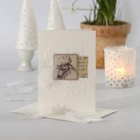 Postales de Pascua con decoraciones y papel Vivi Gade cosidos
