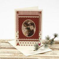 Postal navideña con papel Vivi Gade