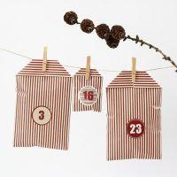 Calendario navideño con bolsas diseño de Stripy Vivi Gade