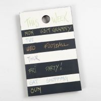 A Weekly Calendar from a Chopping Board with Blackboard Paint