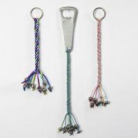 Kumihimo colgantes decorativos trenzados para abrebotellas y llaveros