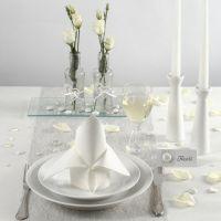 Decoraciones de mesa blancas