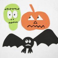 Formas de Halloween magnéticas con espuma