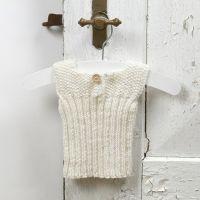 Tejer para bebés - un chaleco de lana de Merino