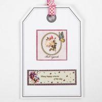 Postal decorada como tarjeta de regalo