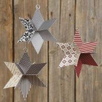 Estrella 3D troquelada con papel de la colección de Vivi Gade Design Paper